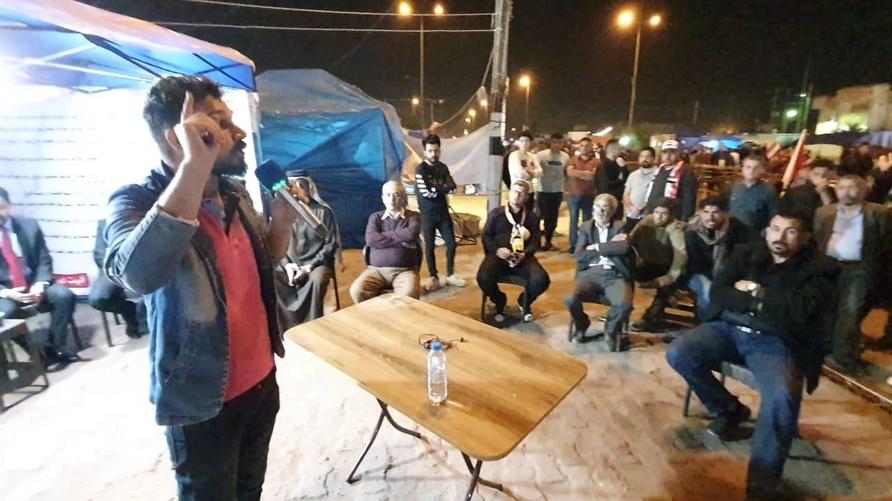 من ساحة الاعتصام في البصرة