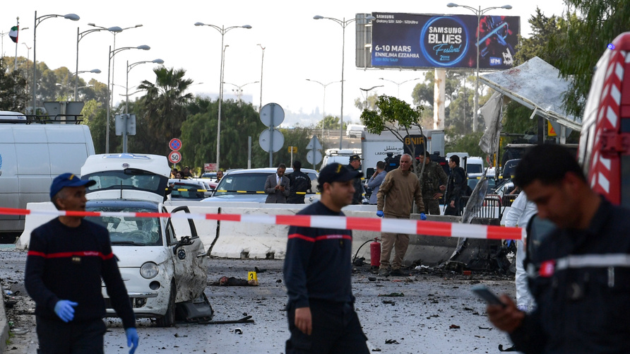 تفجير انتحاري يستهدف السفارة الأميركية في تونس وإصابة عدد من عناصر الأمن