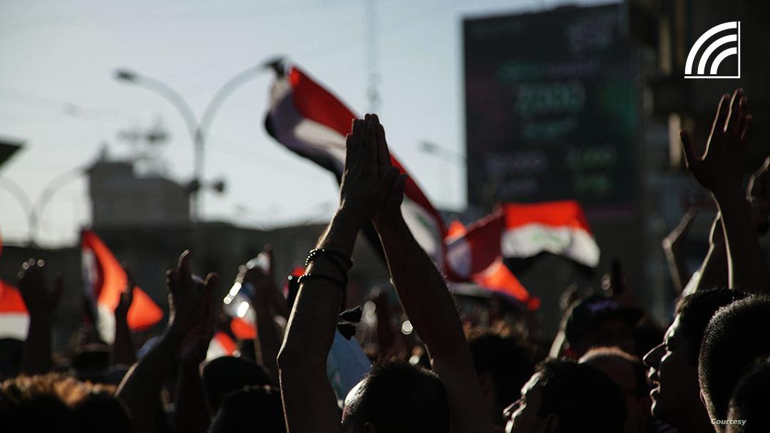صور حصرية من المظاهرات في بغداد Irfaasawtak