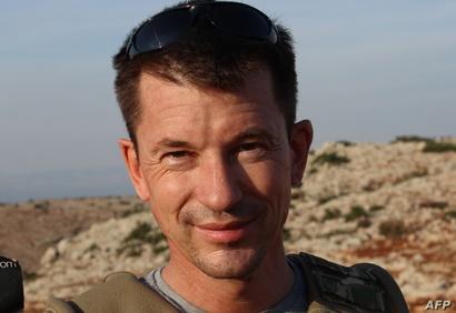 جون كانتلي في سوريا قبل اختطافه سنة 2012