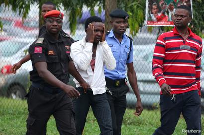 اعتقال أحد أتباع حركة نيجيريا الإسلامية عقب تظاهرات 11 تموز/يوليو 2019.